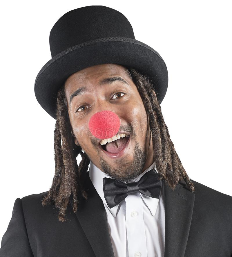 Eleganter Clown stockfoto
