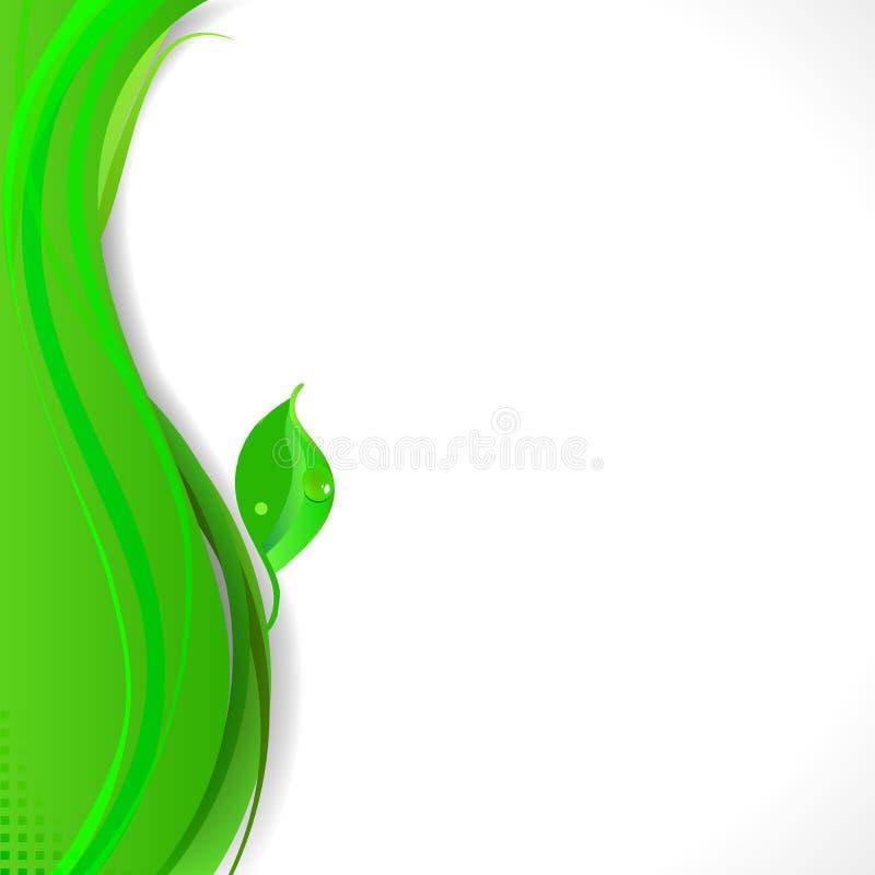 Eleganter eco Auszugs-Geschäftshintergrund lizenzfreie abbildung