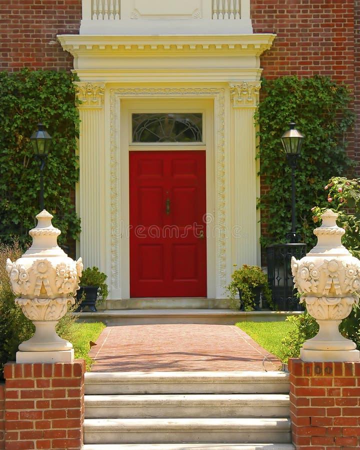 Eleganter Eingang stockbilder