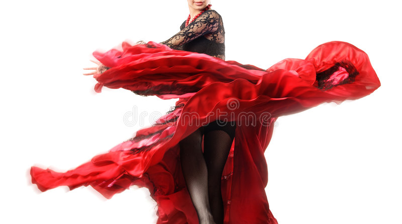 Eleganter Flamenco stockbilder