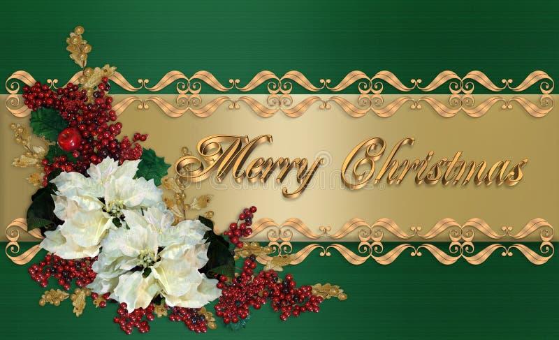 Eleganter Gruß der Weihnachtskarte vektor abbildung