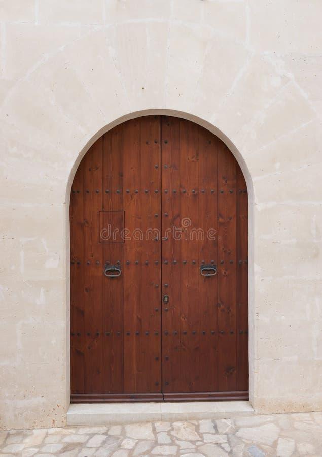 Eleganter hölzerner Front Door stockbilder
