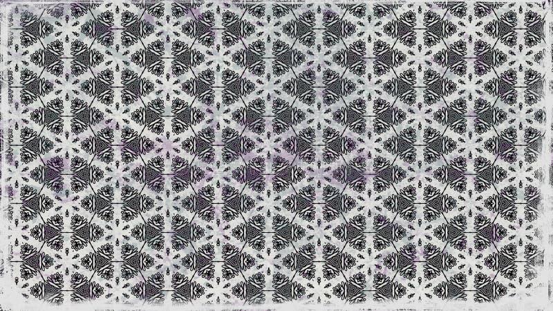 Eleganter Hintergrund Entwurf der grafischen Kunst Illustration Gray Floral Pattern Background Beautifuls stock abbildung