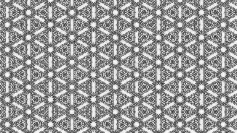 Eleganter Hintergrund Entwurf der grafischen Kunst Illustration Gray Floral Pattern Wallpaper Beautifuls stock abbildung