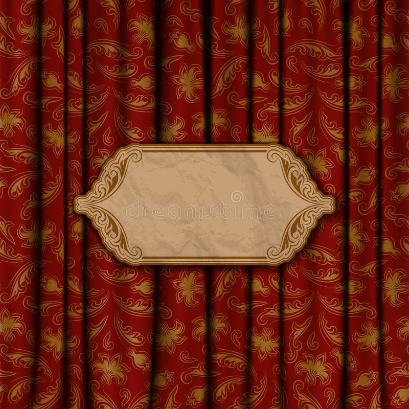 Eleganter Hintergrund mit Spitzeverzierung stock abbildung