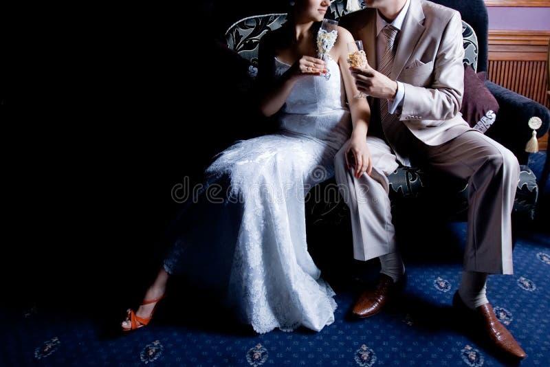 Eleganter Hochzeitstoast lizenzfreies stockbild