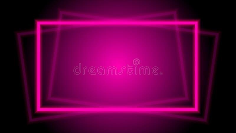 Eleganter horizontaler quadratischer Rahmen des Lichtstrahlrosas für Hintergrund, geometrischer quadratischer Rahmen des Discolic lizenzfreies stockbild