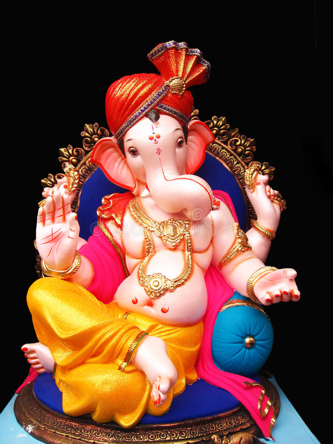 Eleganter Lord Ganesha lizenzfreie stockfotos