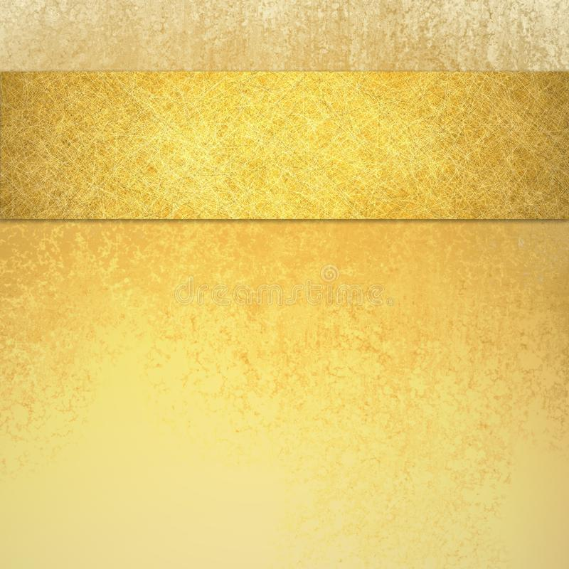 Eleganter Luxusgoldhintergrund mit Bandstreifen auf Spitzengrenz- und Weinlesebeschaffenheit stockbilder