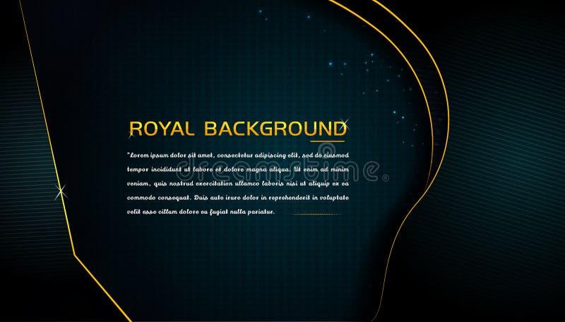 Eleganter Luxushintergrund mit glühendem Goldrahmen lizenzfreie abbildung