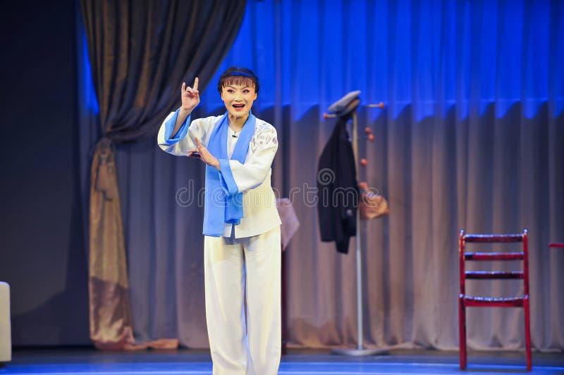 Eleganter Mantel Artjiangxis OperaBlue stockbild