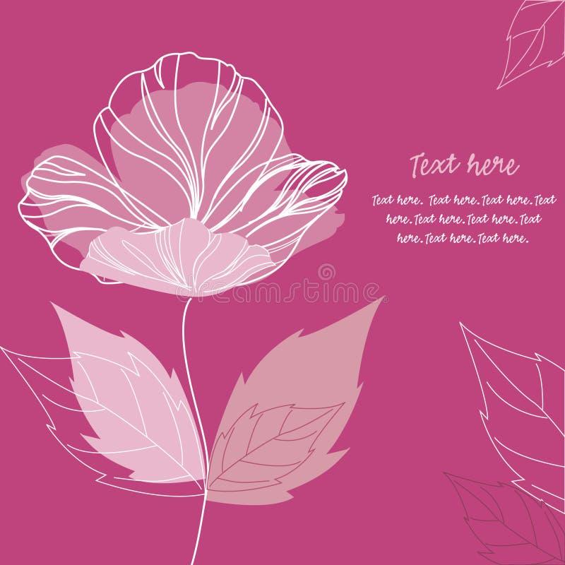 Eleganter Mohnblumeblumenhintergrund stock abbildung