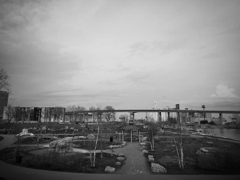 Eleganter Park Scenary stockbilder