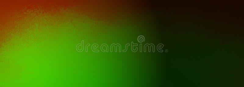 Eleganter roter und grüner Hintergrund mit schwarzer Schattengrenze und hellem Scheinwerferdesign mit Beschaffenheit stock abbildung