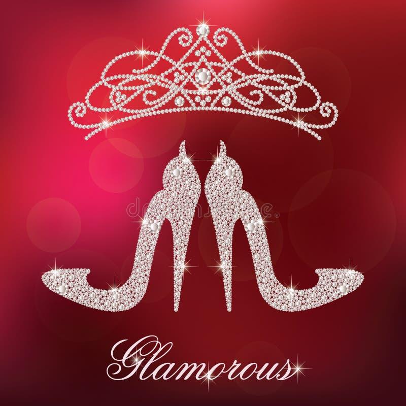 Eleganter Schuh der Damenhohen absätze vektor abbildung