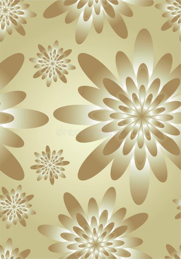 Eleganter silk mit Blumenhintergrund stock abbildung