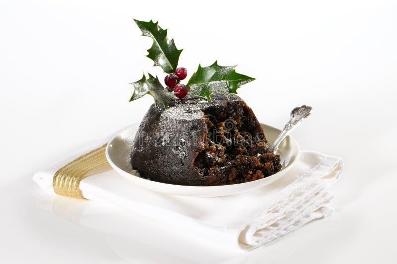 Eleganter Weihnachtspudding lizenzfreies stockfoto