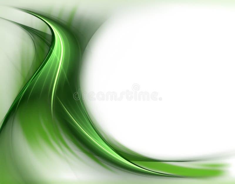 Eleganter wellenförmiger grüner Frühlingshintergrund lizenzfreie abbildung