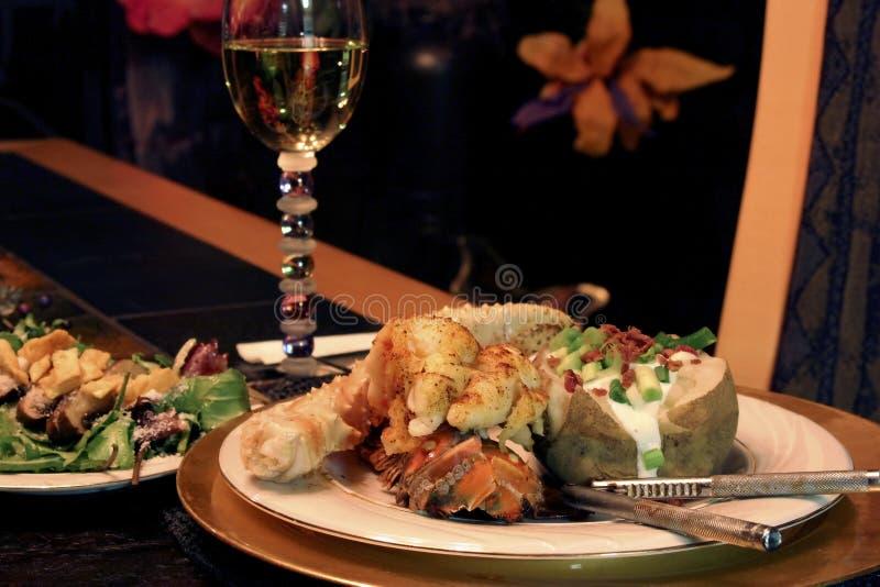 Elegantes Abendessen stockbilder