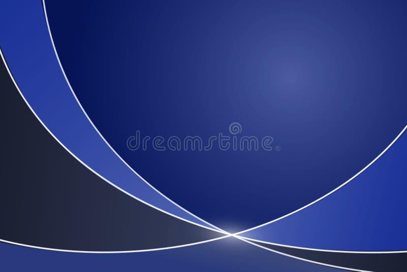 Elegantes Blau und Gray Illustrated Background mit Kopien-Raum vektor abbildung