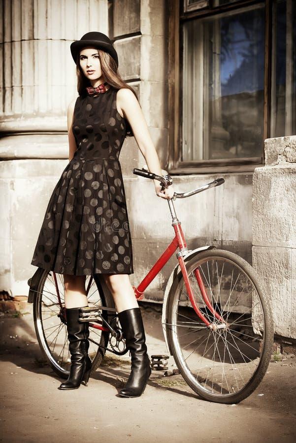 Elegantes Fahrrad stockbild