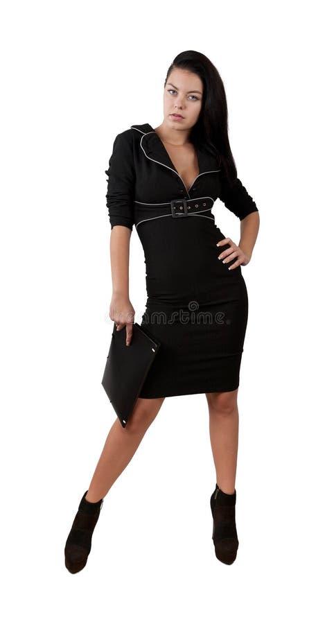 Elegantes Geschäftsfrau-Holdingportefeuille stockbild