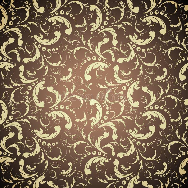 Elegantes goldenes nahtloses Muster stock abbildung