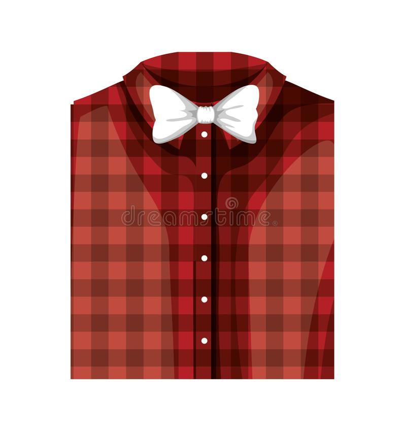 Elegantes Hemd gefaltet mit bowtie vektor abbildung
