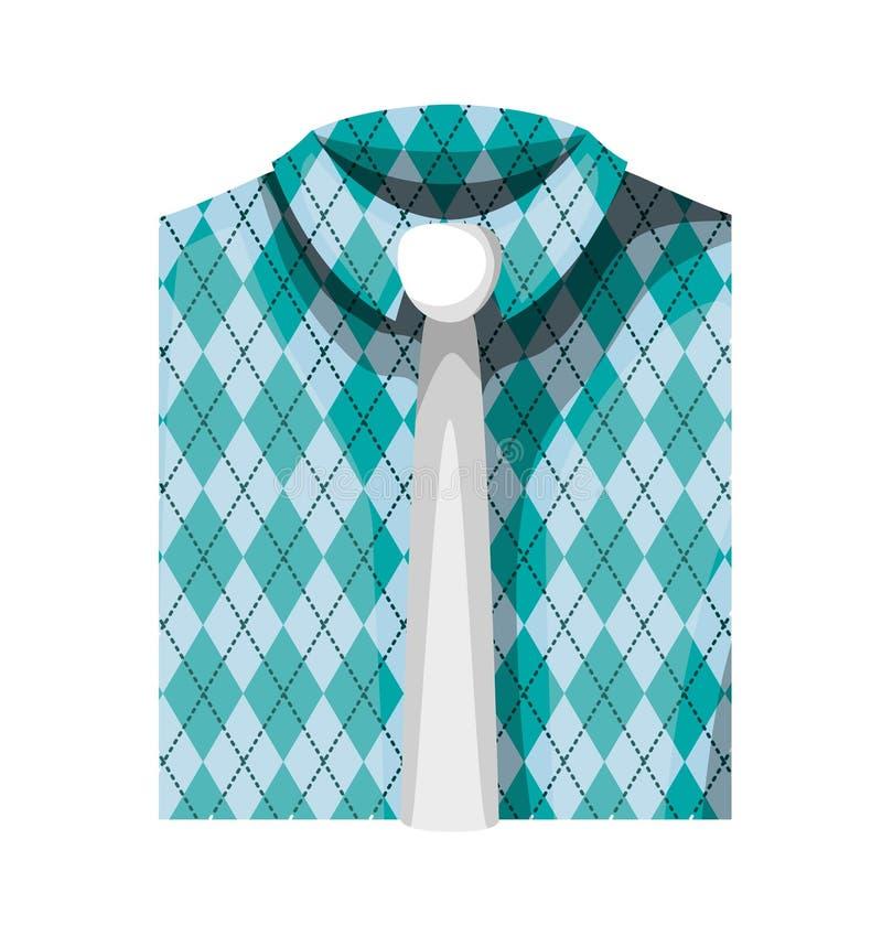 Elegantes Hemd gefaltet mit Krawatte lizenzfreie abbildung