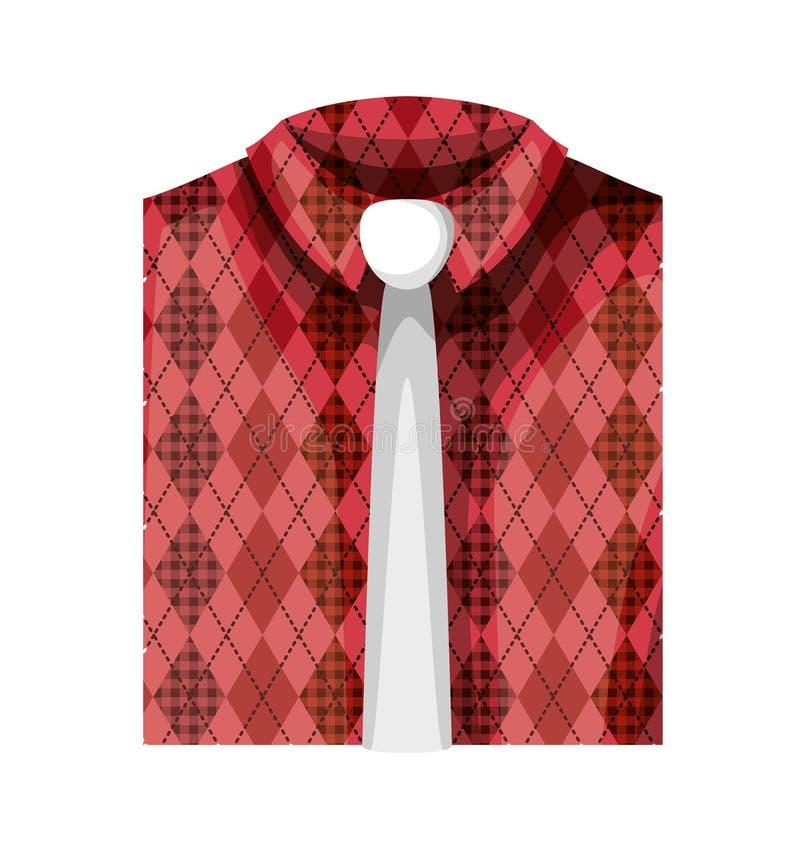 Elegantes Hemd gefaltet mit Krawatte stock abbildung
