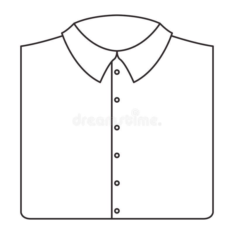 Elegantes Hemd gefaltete männliche Ikone stock abbildung