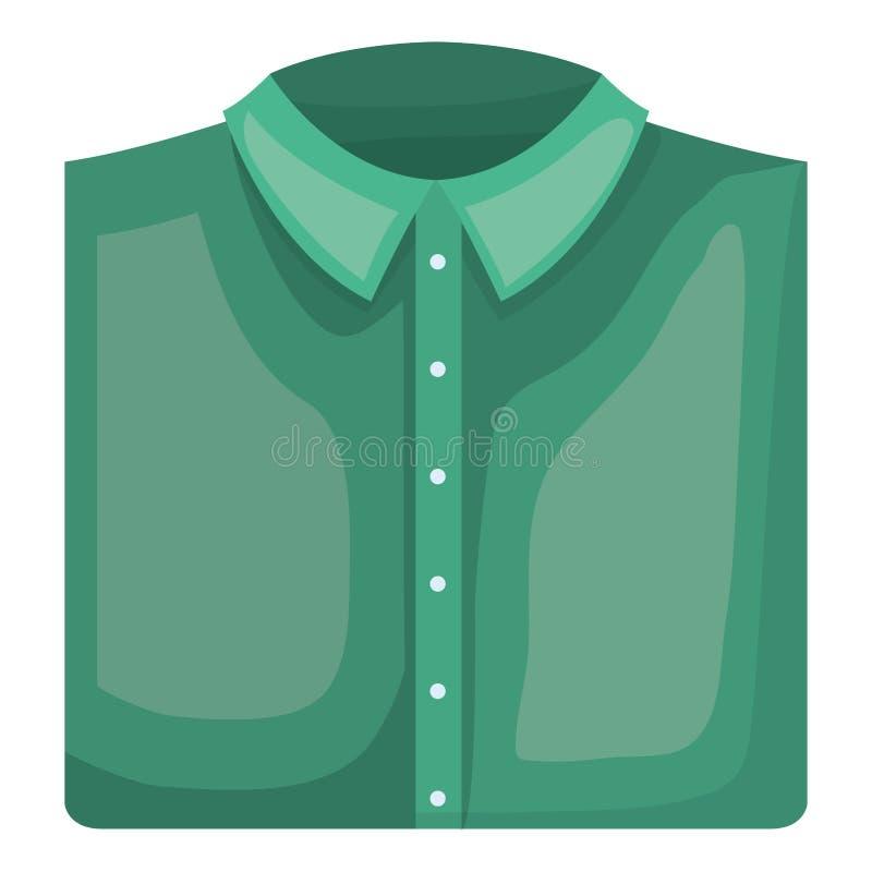 Elegantes Hemd gefaltete männliche Ikone lizenzfreie abbildung