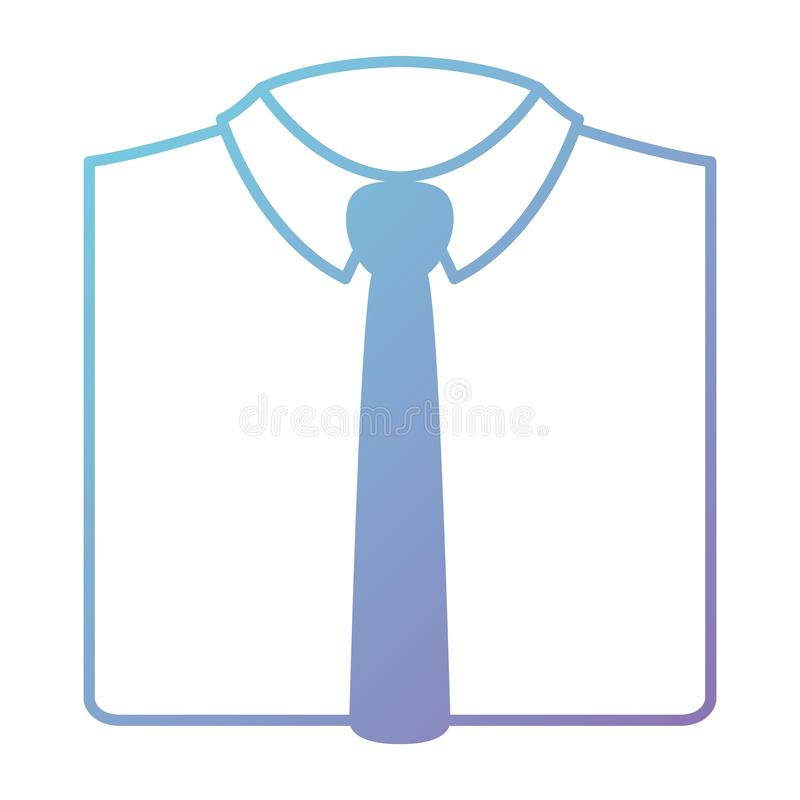 Elegantes Hemd mit Krawatte lizenzfreie abbildung
