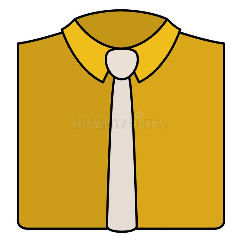 Elegantes Hemd mit Krawatte stock abbildung