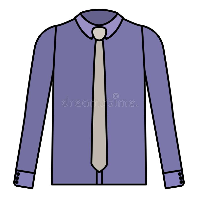 Elegantes Hemd mit Krawatte vektor abbildung