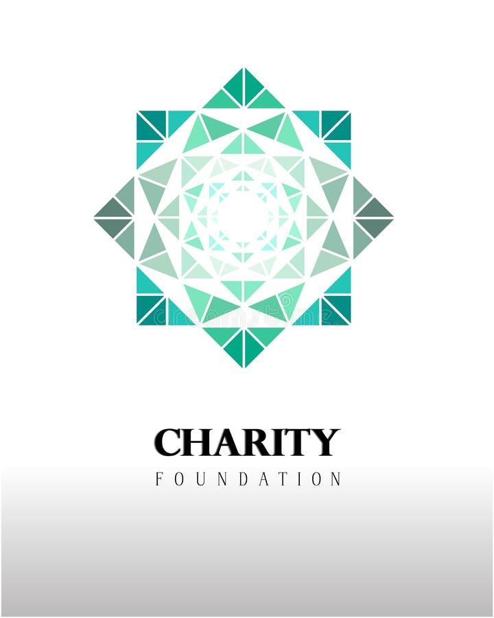Elegantes Logo und Aufmerksamkeit zur Institution erregen stock abbildung