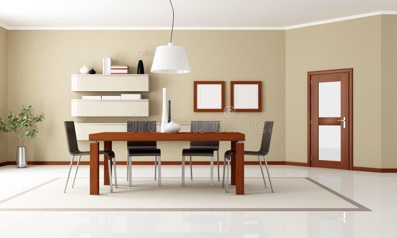 Elegantes modernes Esszimmer stock abbildung