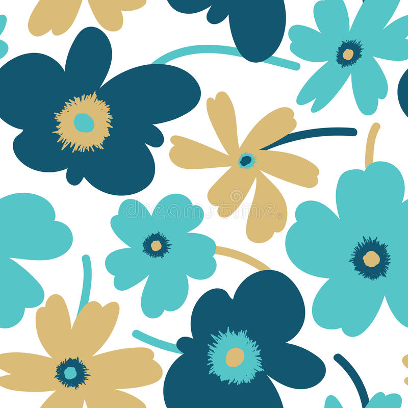 Elegantes nahtloses mit Blumenmuster stock abbildung