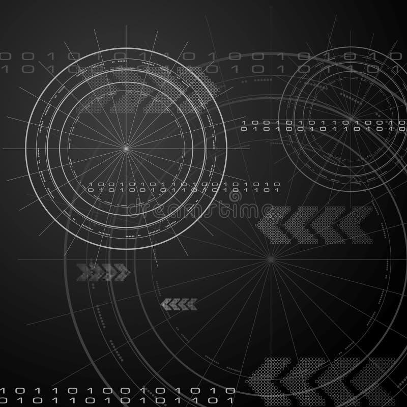 Elegantes Technologievektordesign stock abbildung