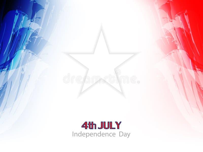 Elegantes Thema-Hintergrunddesign der amerikanischen Flagge. stock abbildung