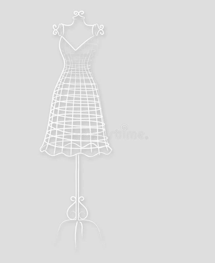 Elegantes Weinlesemannequin vektor abbildung