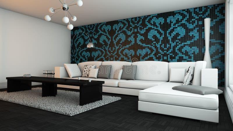 Elegantes Wohnzimmer Stock Abbildung Illustration Von