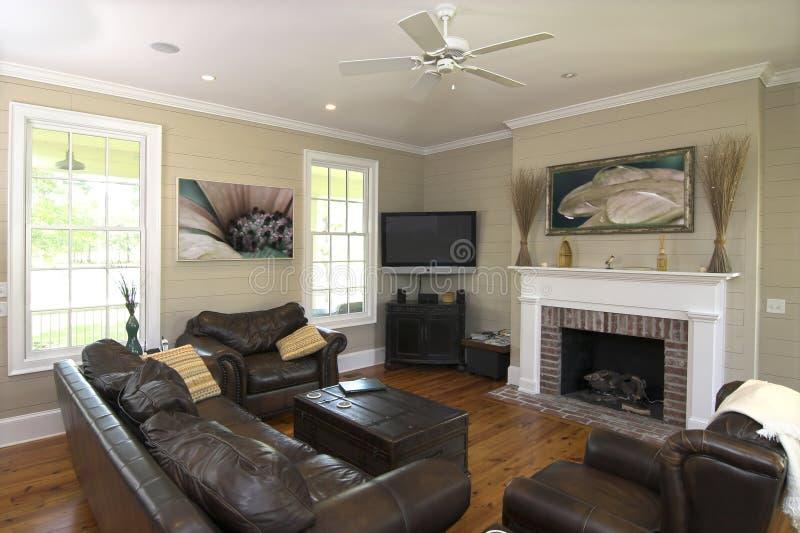 Elegantes wohnzimmer mit flatscreen stockfoto bild von beige zustand 12956246 - Elegante wohnzimmer ...
