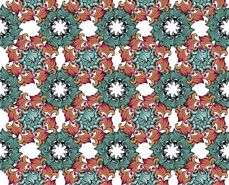 Elegantie Naadloos patroon met bloemenachtergrond Decoratieve ornamentachtergrond voor stof, textiel, verpakkend document, kaart, royalty-vrije illustratie