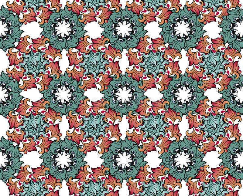 Elegantie Naadloos patroon met bloemenachtergrond Decoratieve ornamentachtergrond voor stof, textiel, verpakkend document, kaart royalty-vrije illustratie