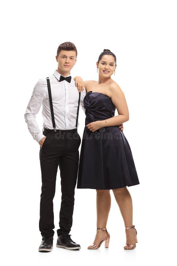 Elegantly klädda tonåringar royaltyfri bild