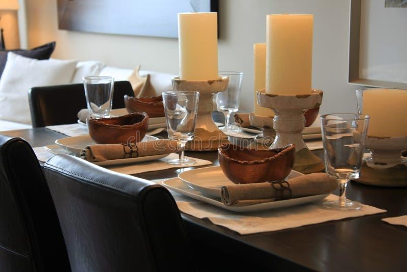 Download Elegantly Set Dining Room Table Stock Image - Image: 10853601