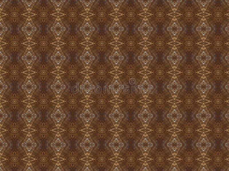 Elegantly vävd handgjord vinrankamodell, geometrisk form, naturligt träljus - brun färg stock illustrationer