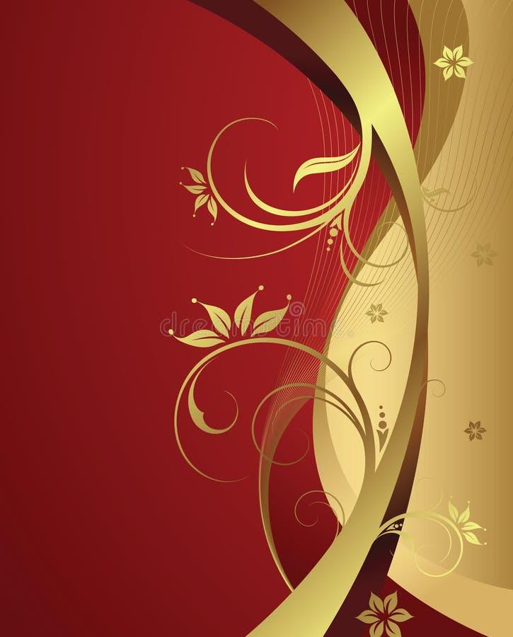 elegantt blom- för bakgrund royaltyfri illustrationer