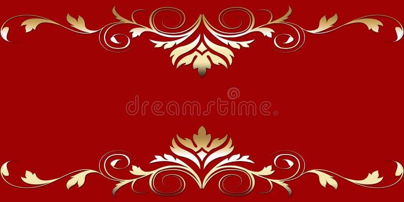 elegantt kort royaltyfri illustrationer